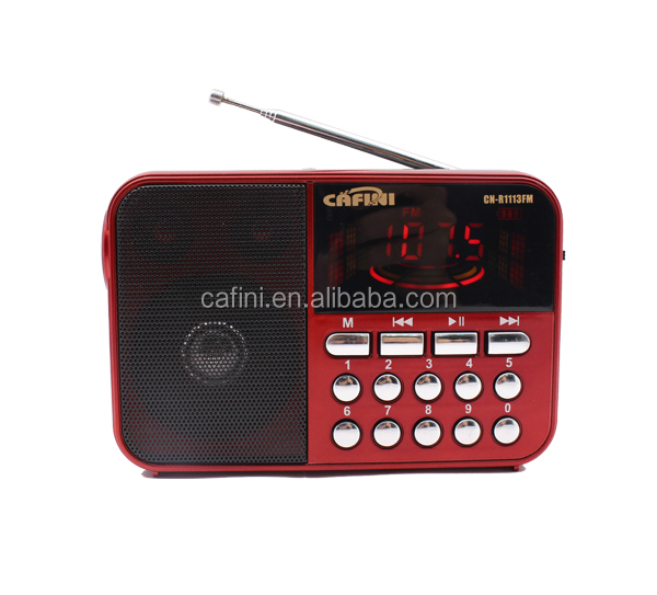 LED display digital FM radio with USB TF
