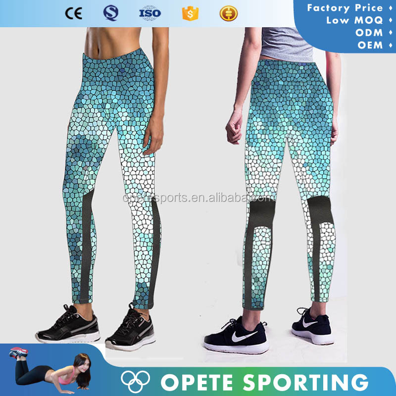 OEM China made Women Yoga Pants Sports Jogging Running leggings Spandex sublimation pants