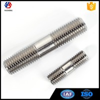 Durable 201 304 Stainless Steel Double Head Stud Bolt and Nut