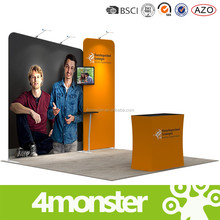 3X3 aluminum trade show booth with tension fabric