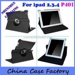 Popular 360 Degree Rotation Leather Case For iPad 4
