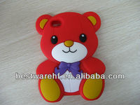 2013 Hot selling Teddy Bear shape Silicon cellphone case cover for Iphone5