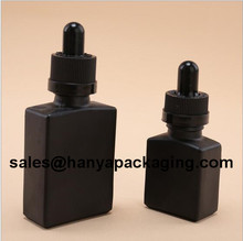 Wholesale square black glass dropper bottles 30ml