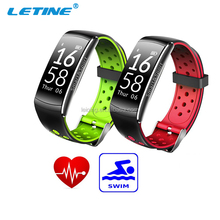 IP68 waterproof festival silicone wristband printing machine heart rate Multiplmart clock function bluetooth bracelet pedometer