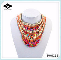 PH0115 Elegant Seed Bead necklace Handmade african necklace