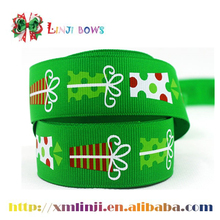 custom printed grosgrain ribbon for Christmas decoration