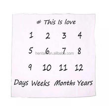 super soft birthday photography baby monthly milestone blanket