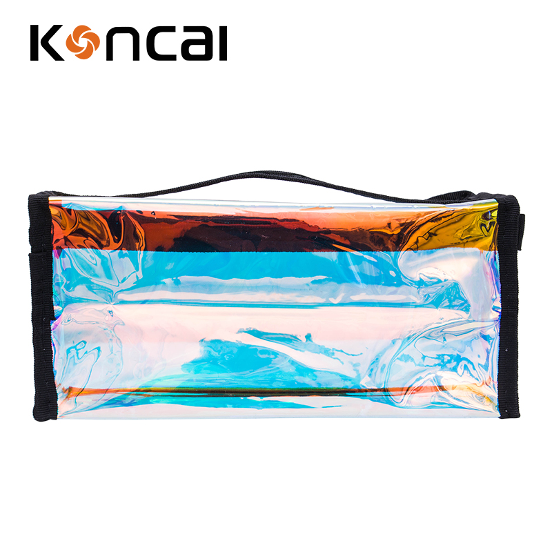 New Arrival Iridescent Holographic PVC Toiletry Makeup Bag Beauty Bag