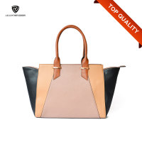 Top Handles Ladies Fashion Patch PU Leather Bag