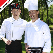 High Quality Restaurant custom chef coat chinese restaurant wholesale stock coat white wear jacket hotel staff chef uniform
