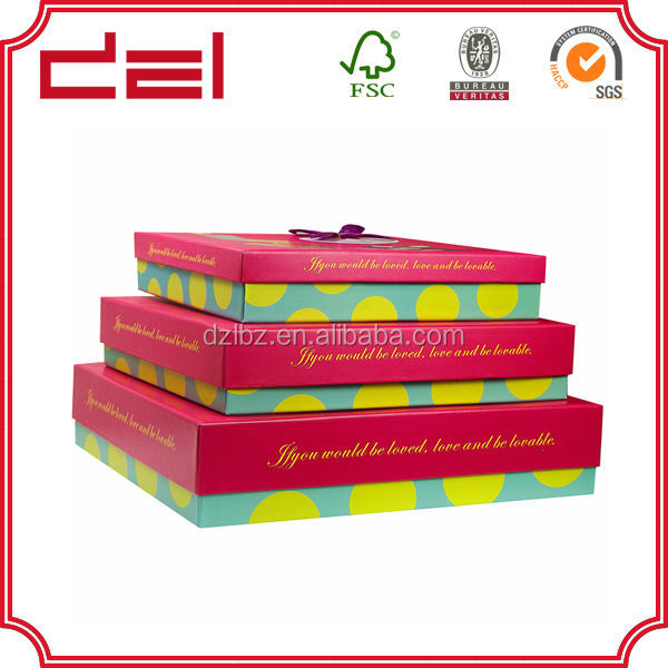 Elegmant high qulity garment suit packaging box