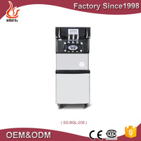 Wiberda new product used supermarket refrigeration equipment commercial ice cream freezer machine witjh air bump SS-BQL-208