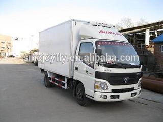 chiller truck box foton van for sale/refrigerated cargo van/van cargo truck