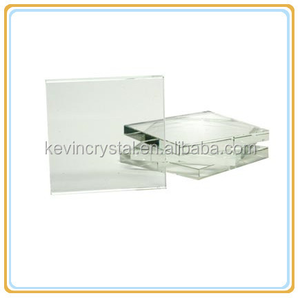 square shaped glass coaster