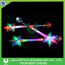 2016 Christmas Gifts Light Up Snowflake LED Plastic Stick