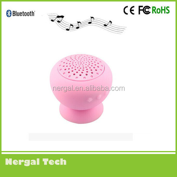 Hotsale mini mushroom bluetooth shower speaker with stand