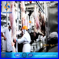 Slaughter Line for Sheep Slaughtehouse Abattoir Black Goat Lamb Mutton Meat Slaughterline Equipment Machinery Halal Way