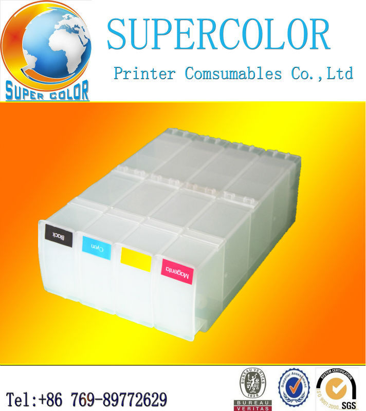 Supercolor Easy installation for hp 4000 4500 refillable ink cartridge