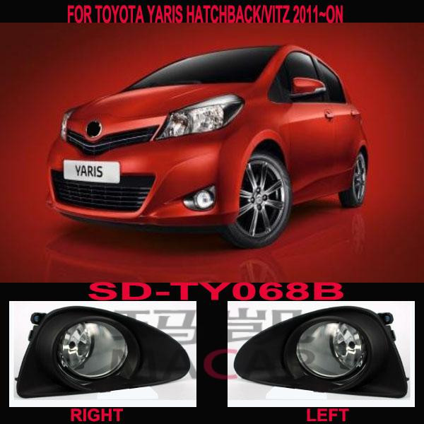 black cover fog lamp light TOYOTA YARIS HATCHBACK/VITZ 2011~ON