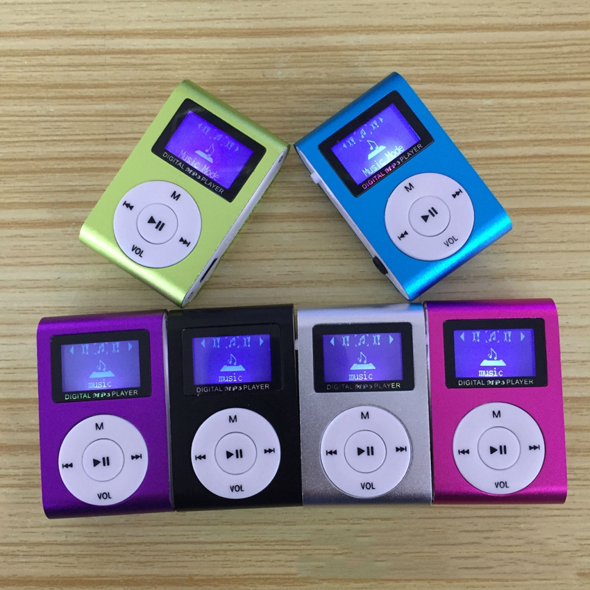 Wholesale Mini USB Metal Clip <strong>MP3</strong> Player LCD Screen Support 32GB SD TF Card Slot Digital <strong>mp3</strong> music player