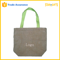 Custom Fashion Foldable Light Weight Jute Shopping Bag