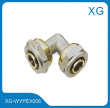 Brass fittings equal elbow for PEX pipes/Gas hose connect brass fittings/20mm PE aluminium complex pipes brass elbow