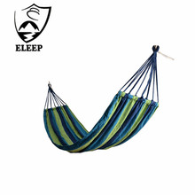 2017 Cheap Eleep Outdoor Leisure Canvas Hammocks Camping Stand Sleeping Hammock