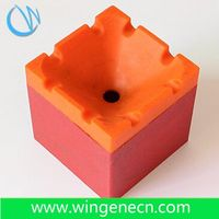 Fashion design creative custom ashtray silicone ashtray with cover for square shape