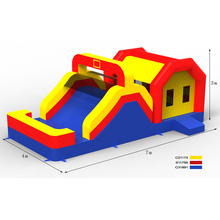 PK 2017sales promotion factory price indoor and outdoor inflatable combo slide in jumping bouncer castle