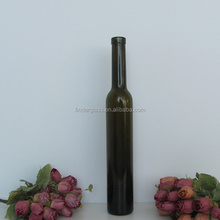 375ML bartop antique green ice wine glass bottle
