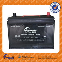 Producing Top Quality Lead Acid 12V75AH MF korean car battery Auto Car Battery with Best Wholesale Price