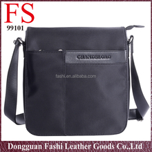black long strap low price men's briefcase nylon and leather