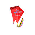 customized logo diamond shaped promotional kite