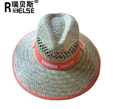 Wholesale Customized Cheap Mexico Straw Sombrero Beach Surf Lifeguard Hat