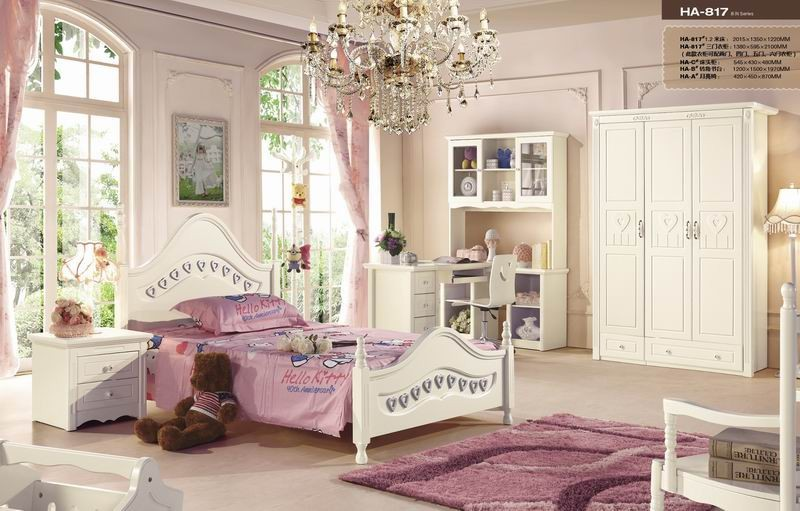 JHY817 antique furniture french style girls white bedroom set/french bedroom furniture made in China