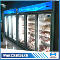 plug in and remote upright multi door frozen meat display freezer