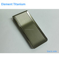 Black Metal Titanium Money Clip Custom Silve Color