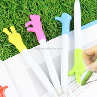 Magic fingger shape plastic erasable pen can be use for school