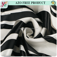 White and black color hand-made sewing embroidery fabric on white mesh tulle for garment