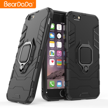 360 Degree Rotating Ring Grip Kickstand Dual Layer Shockproof mobile phone cover case for iphone 6,for iphone 6 case