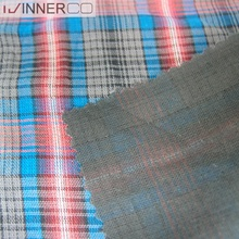 yarn dyed cotton double face check shirt fabrics for men