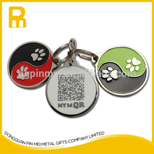 Be new and beautiful customized metal pet tags qr code Metal pet tag qr with serial number code with CE certificate