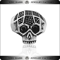 Daihe Custom stainless steel skull engagement ladies rings