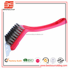 Plastic handle double wire BBQ cleaning brush