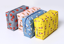 Wholesale fruit printed canvas cosmetic bag canvas travel toiletry bag