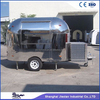 high quality New style electric fast food car/fast food cart/stainless steel mobile food trailer