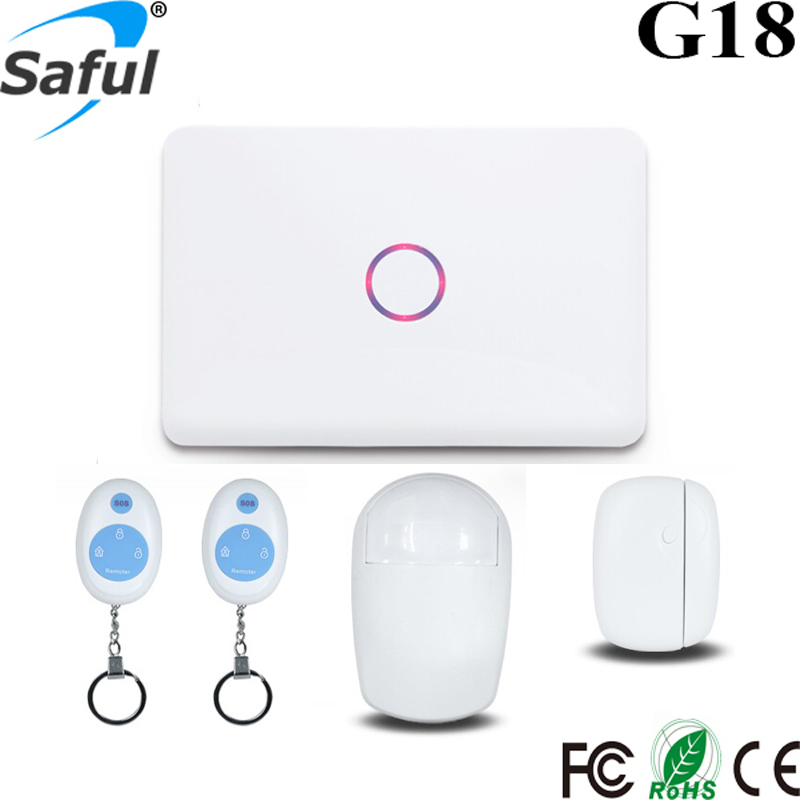 Saful G18 Home Security System GSM Based wifi 3g Alarm System with Remote Control