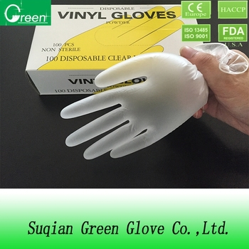 disposable exam gloves/powdered gloves/pvc gloves