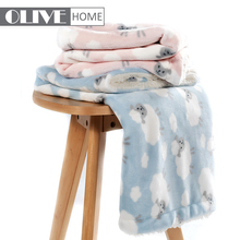 Custom Designs Printed Soft Polyester Throw Flannel Fleece 2 ply Baby Blanket with sherpa