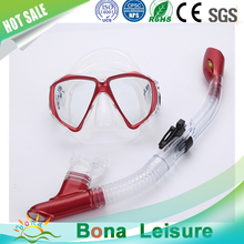 Hot sale perfect workmanship fashion diving glasses snorkel mask with full-dry breathing tube